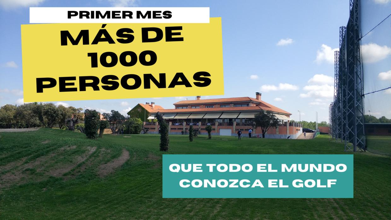 Más de 1000 bautismos de golf en La Valmuza